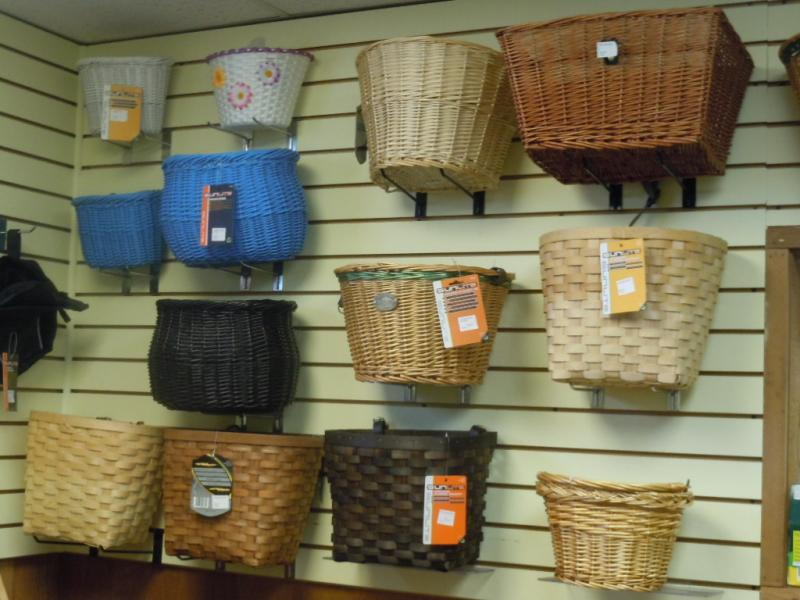 Wicker or wire it's your choice for that basket that can hold all the fun
