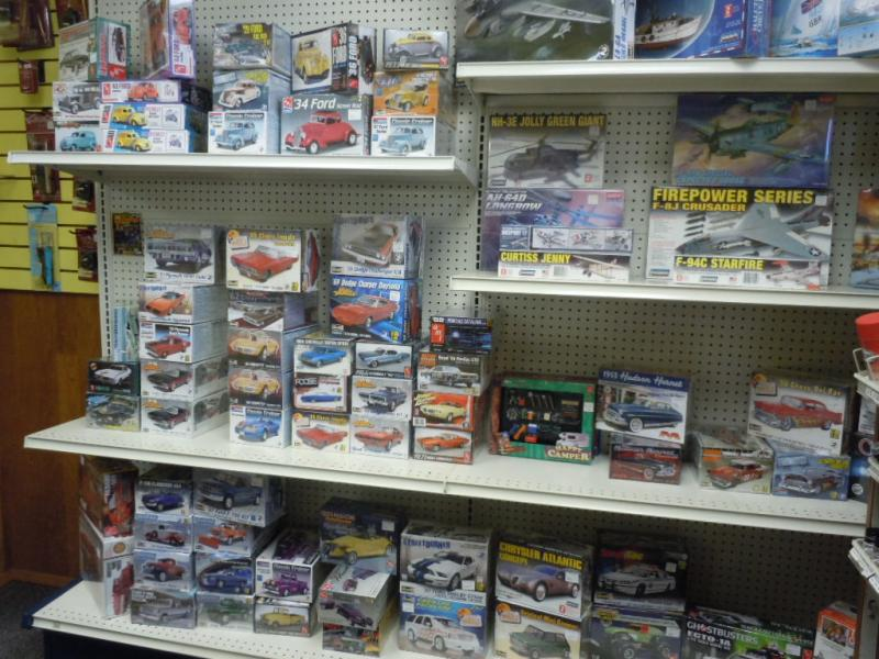 Model cars, planes, military equipment