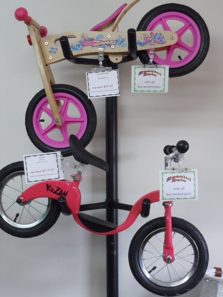 Push balance bikes for the kids on sale