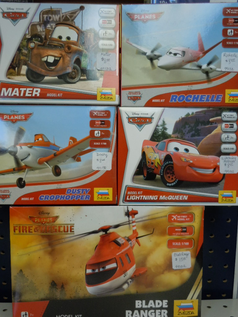 Disney Cars or Planes plastic model kits