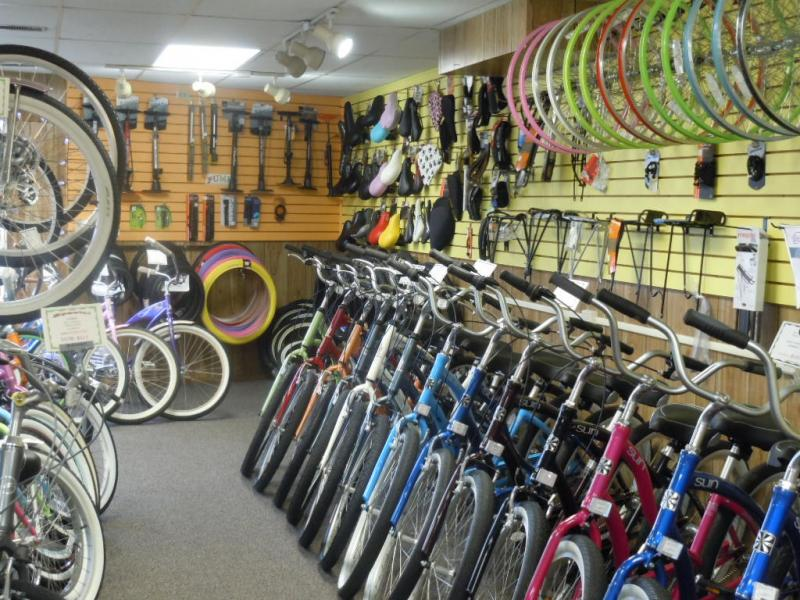 Large selection of bikes for all riders