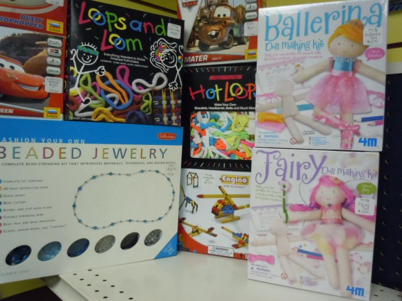Weaving looms, doll making kits for Christmas